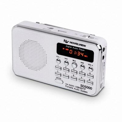 노벨뷰 SD5000 휴대용 라디오.FM라디오.효도.스피커