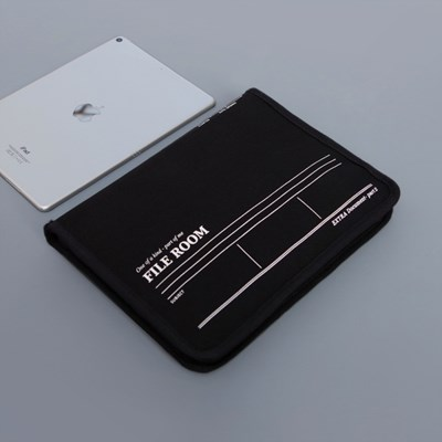 File Room A5 파일룸 - 11인치형 태블릿 파우치 Black color