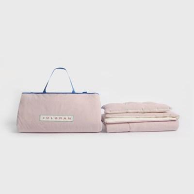 순수코튼 어린이집 이불+베개 이불세트 핑크