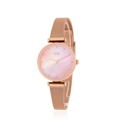 핑크빛 봄날 자개 로즈골드 메쉬 시계 CL2G20201MPP
