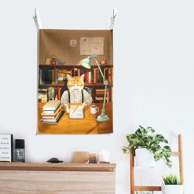 [패브릭 포스터/캔버스 액자] - 생계형 작가 고양이