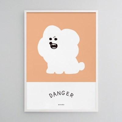 심쿵 강아지2 M 유니크 인테리어 디자인 포스터 동물