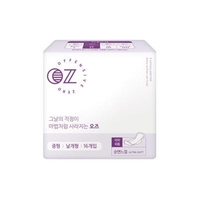 OZ 유럽형 생리대 중형 16매 + OZ 버블 청결제 100ml