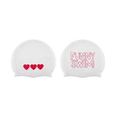 Funny Swim Swimcap White