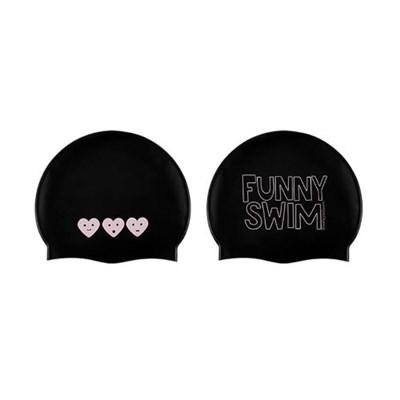 Funny Swim Swimcap Black