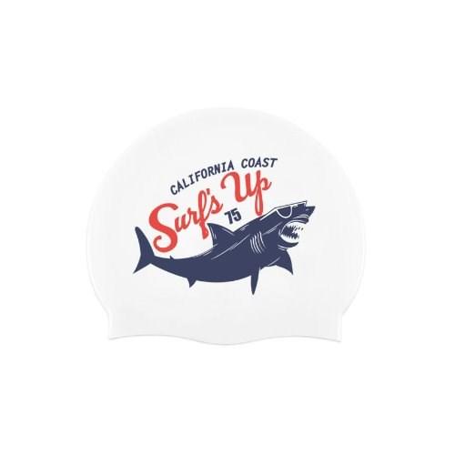 Shark Swimcap White