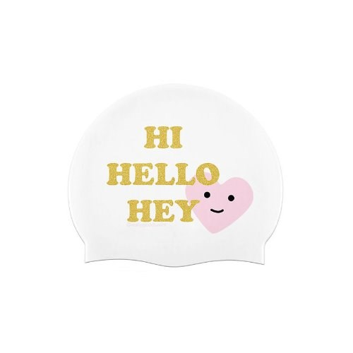Twinkle Hello Swimcap White
