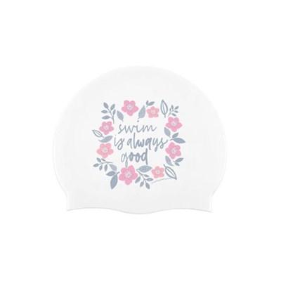 Cherry Blossom Swimcap White