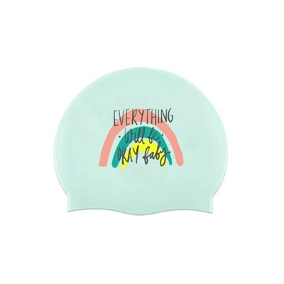 Everything Rainbow Swimcap Mint