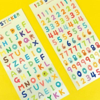 ABC알파벳 /123숫자 스티커