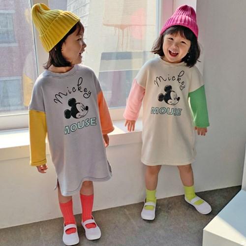 핑) 디즈니정품 귀엽자나 아동 미키원피스