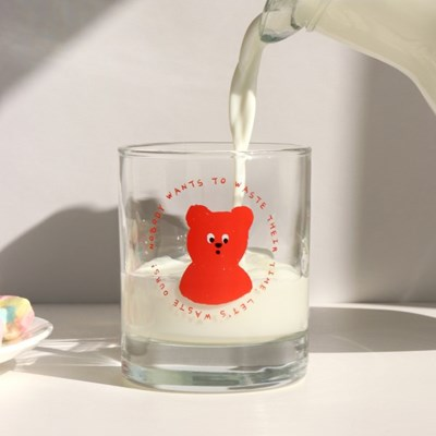 lazybear glass 300ml_red