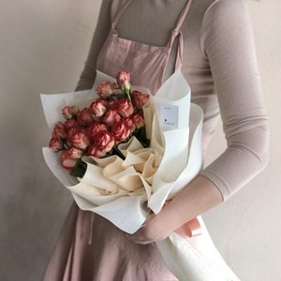 [생화/택배가능] 킹스턴 미니장미 꽃다발 (레드)