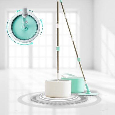 [아토소] 스핀클리너 막대 청소기 방 침대 밑 싹쓸이 바닥 밀대