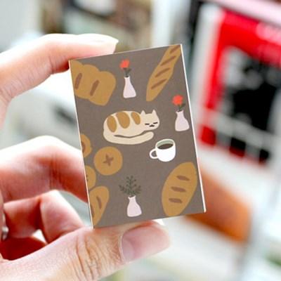 브리스크스타일 성냥(빵과 커피 그리고 고양이)_40개입_(989017)