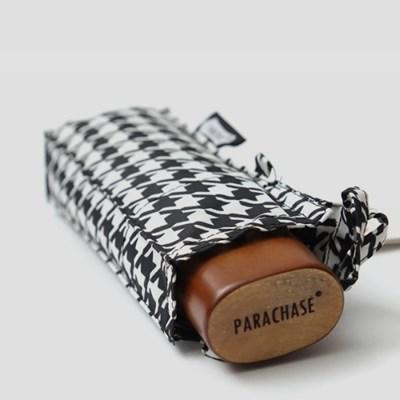 PARACHASE 파라체이스 5016 하운드 투스 우드 그립 5단 수동 우산