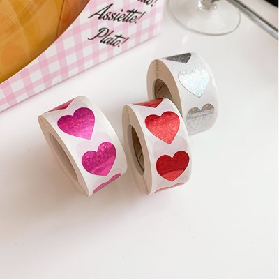 Glitter Midium Heart Sticker 글리터미듐하트스티커(20개)