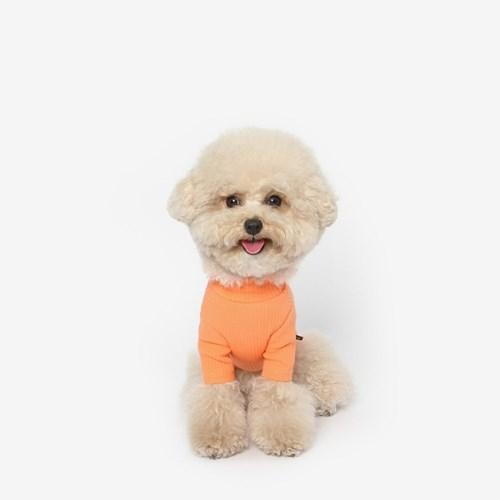 강아지 목폴라 티셔츠 (오렌지)