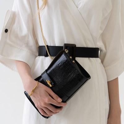 [텐바이텐 단독] Christian villa  Vintage square  bag black