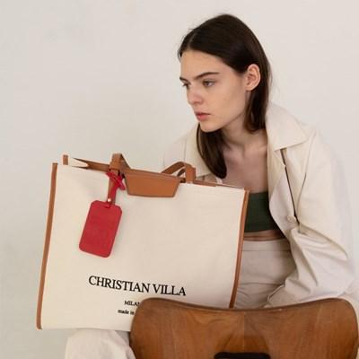 [텐바이텐 단독] Christian villa  hope canvas bag brown