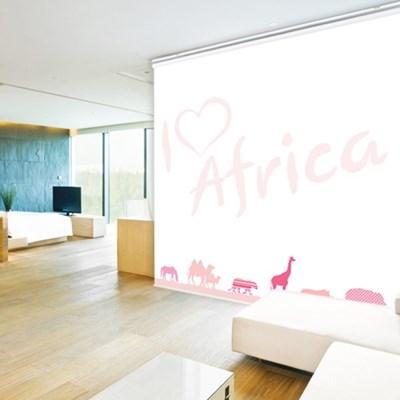 일러스트롤스크린_핑크아프리카