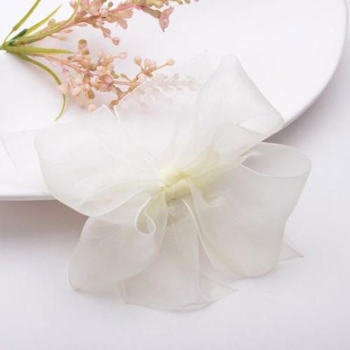 [헤어보우]봄봄 리본 헤어핀_아이보리