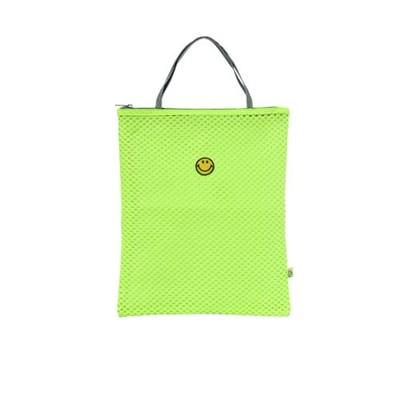Neon Smile Mesh bag