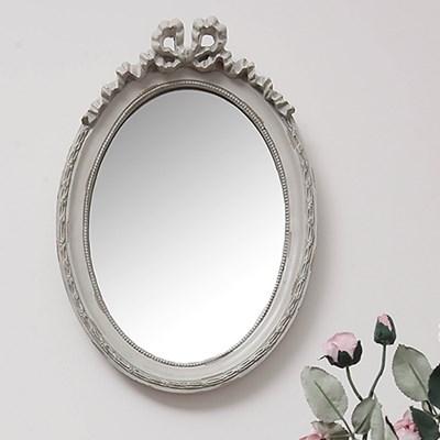 꼬떼따블 빈티지 엔틱 리본장식 타원형 거울