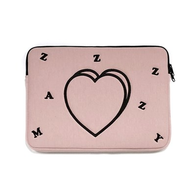 heart laptop pouch (indi pink)
