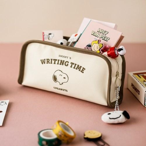 [Peanuts] TIME 사각 펜 케이스_스누피