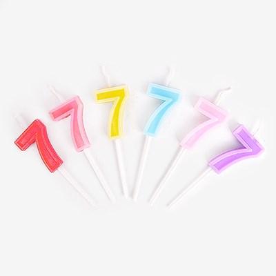 파스텔 테두리 입체 캔들 7 (1개)