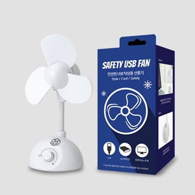 언박싱팩토리 안전날개 저소음 USB 탁상용 선풍기_(975296)