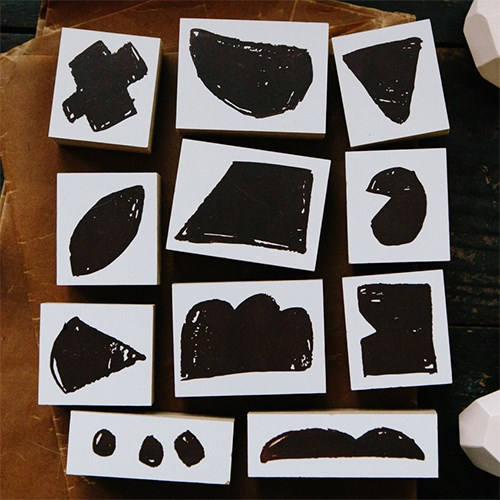 [OURS] Rough blocks DIY Rubber Stamp