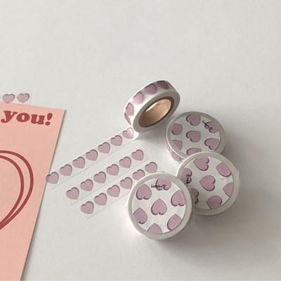 heart masking tape (light purple)