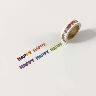 happy candle masking tape