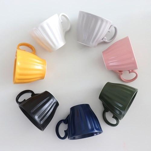 위즈라인 무광 조각 머그컵 (7color)