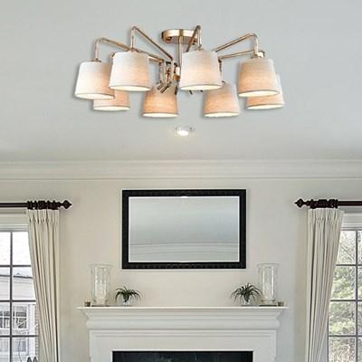 말리 8등 LED 페브릭 직부 거실등 조명