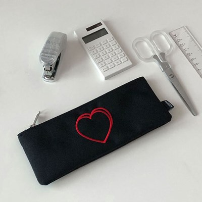 heart pencil case