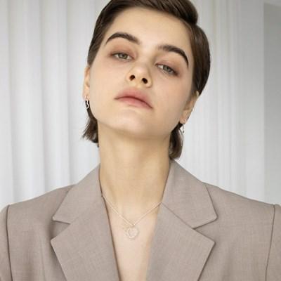 glitter heart necklace