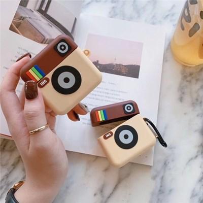 갬성디자인 브라운 카메라 에어팟프로 3세대 에어팟 케이스