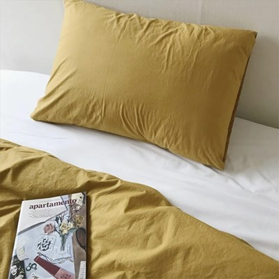 Solid Pillow Cover (Olive Mustard)