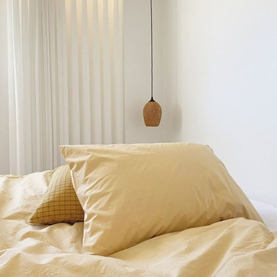 Solid Pillow Cover (Butter)