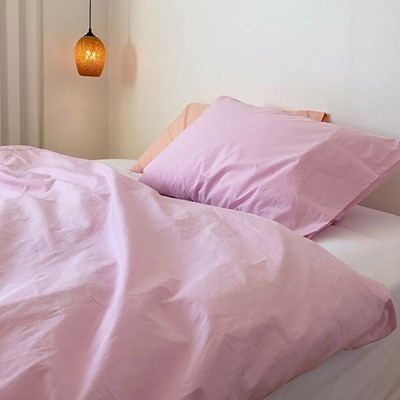 Solid Pillow Cover (Pink Panther)