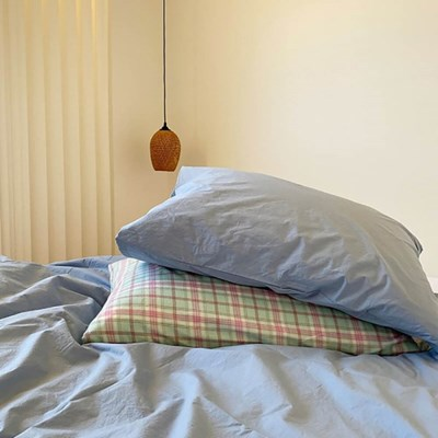 Solid Pillow Cover (Azure)