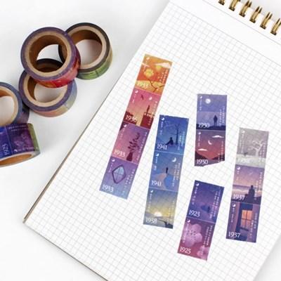 시의 조각들 - 문학 우표형 마스킹테이프 5종 세트