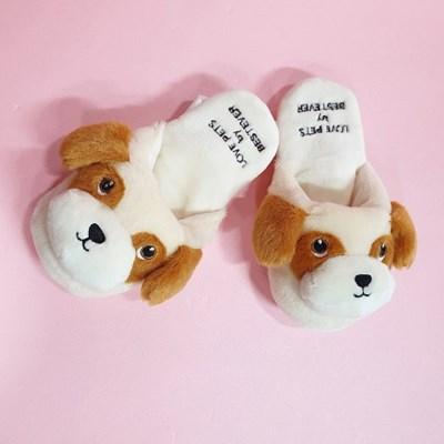 [PetToy]Love Pet Squeaky Beagle slipper바스락삑삑