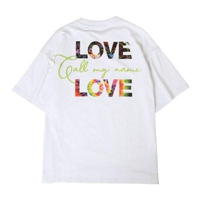 러브 2 티셔츠 WHITE