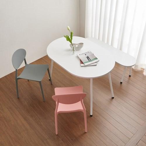 마레 4인용 타원형 테이블 (의자별도)
