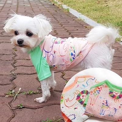 쥬쥬티셔츠 강아지민소매티셔츠 메시소재 강아지티셔츠