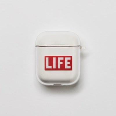 LIFE LOGO AIRPOD HARD CASE_1/2세대_(1539625)
